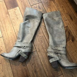 """Fergie """"....... tall leather boots"""